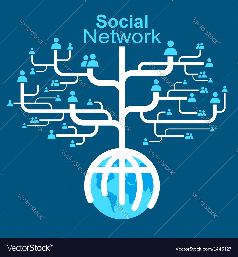 Social network globe worldwide vector | Price: 1 Credit (USD $1)
