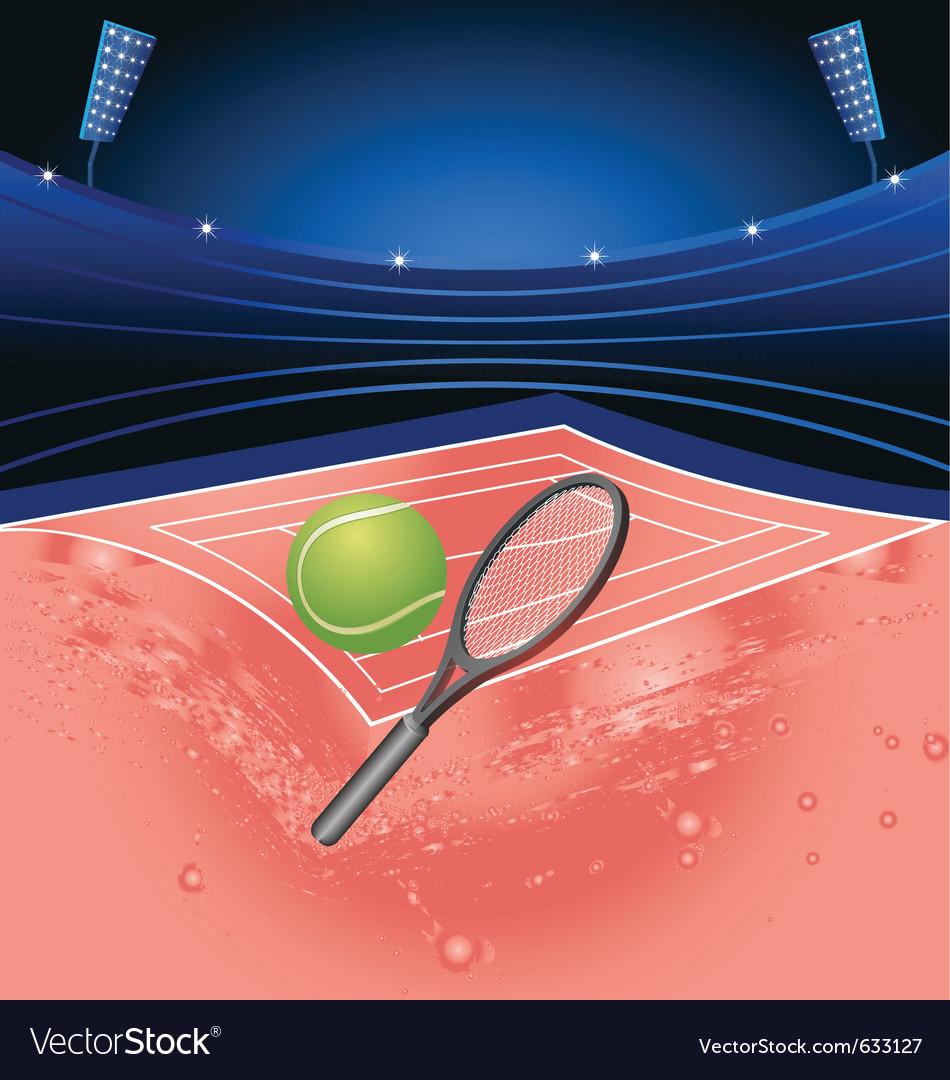 Tennis sport stadium vector | Price: 1 Credit (USD $1)