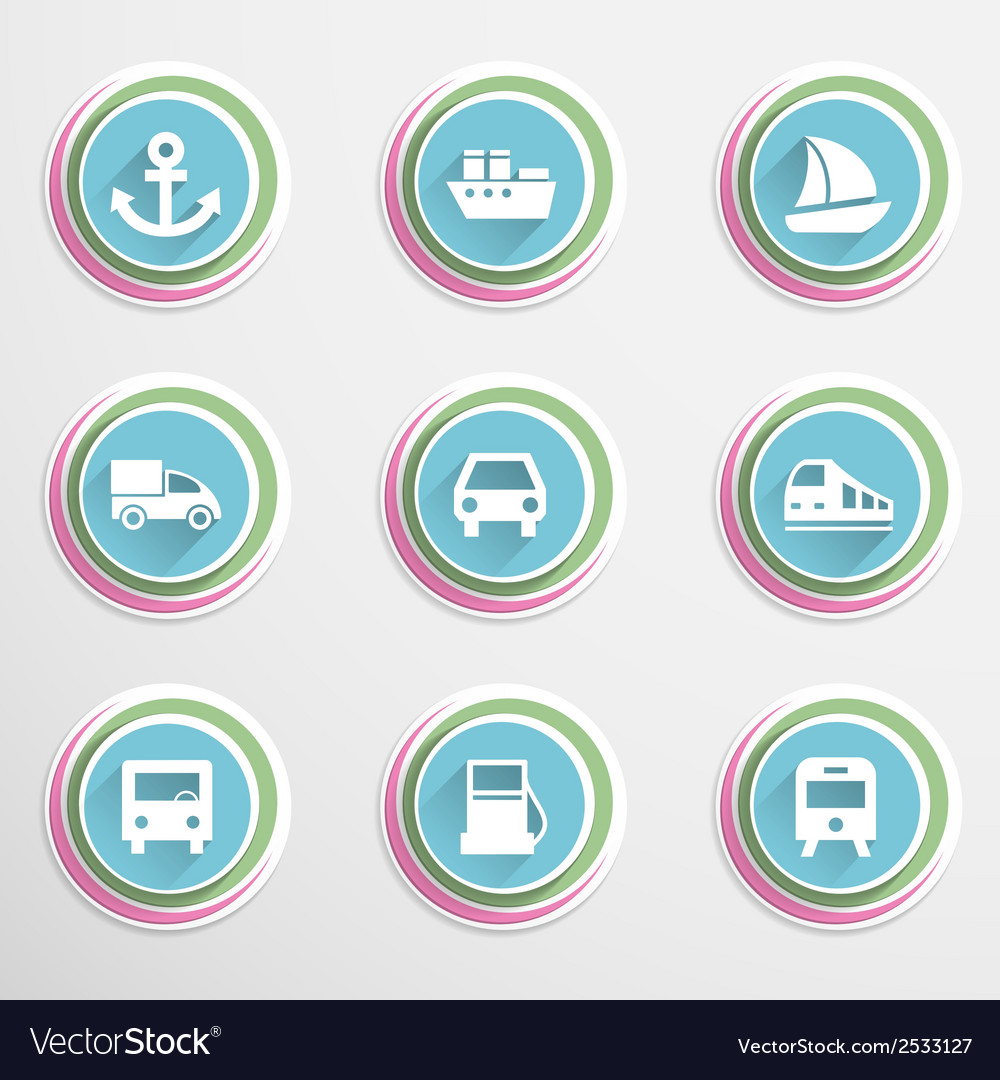 Transport buttons vector | Price: 1 Credit (USD $1)