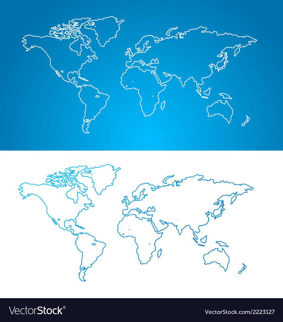 World map concept contour vector | Price: 1 Credit (USD $1)