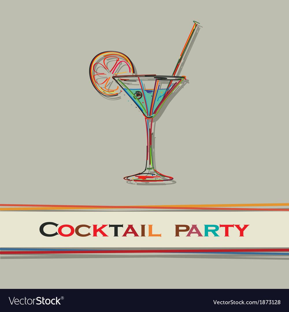 Cocktail menu vector | Price: 1 Credit (USD $1)