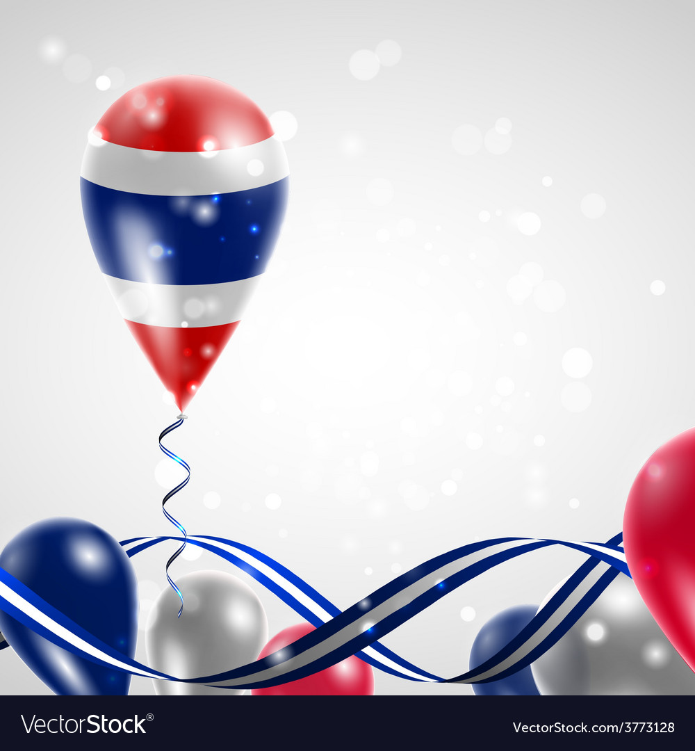 Flag of thailand on balloon vector | Price: 3 Credit (USD $3)