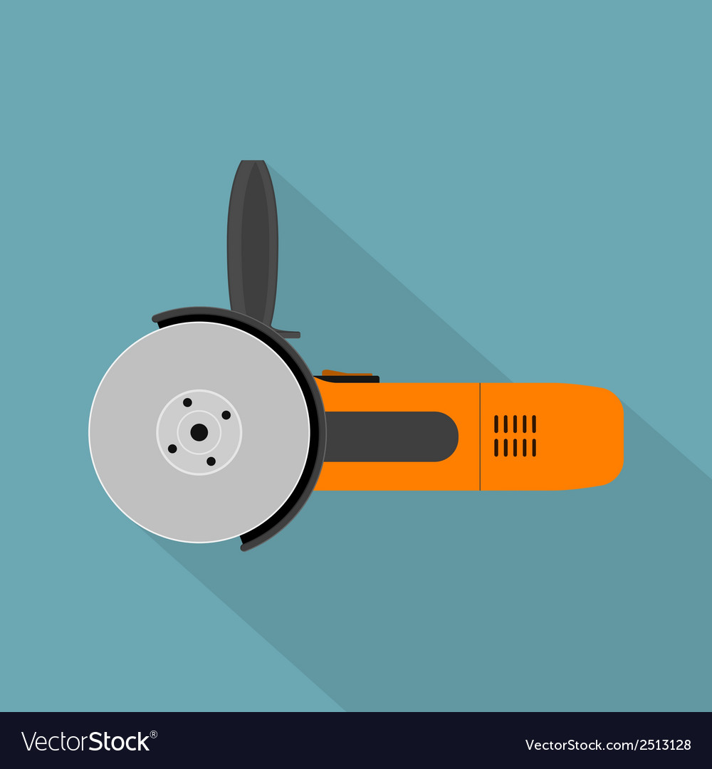 Flat angle grinder vector | Price: 1 Credit (USD $1)