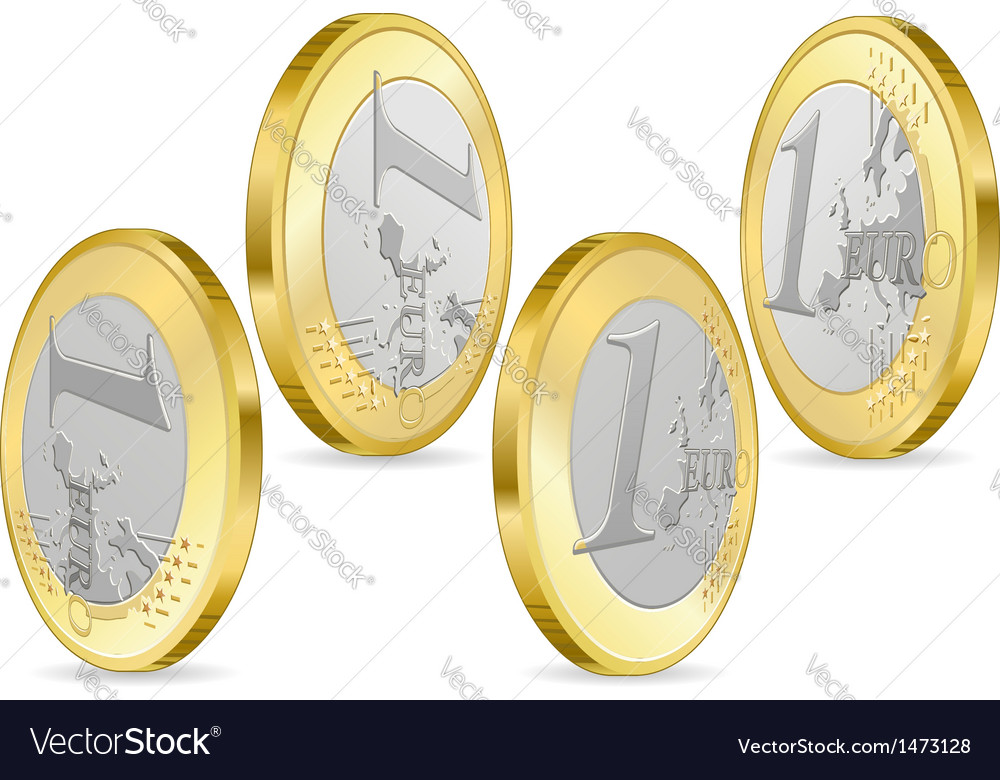 Full set of one euro coins vector | Price: 1 Credit (USD $1)