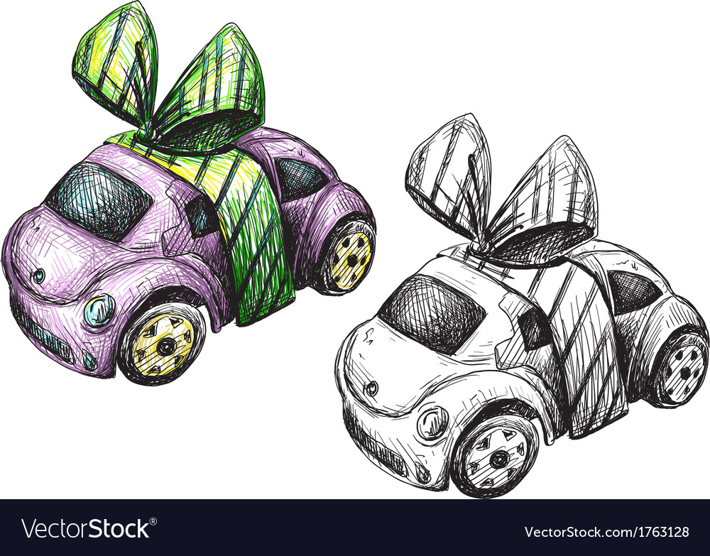 Sketch of a toy car vector | Price: 1 Credit (USD $1)