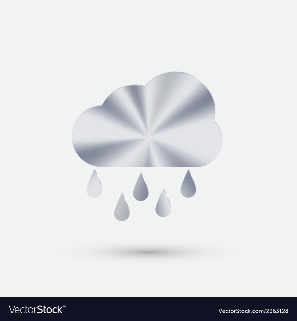 Steel icon cloud rain vector | Price: 1 Credit (USD $1)