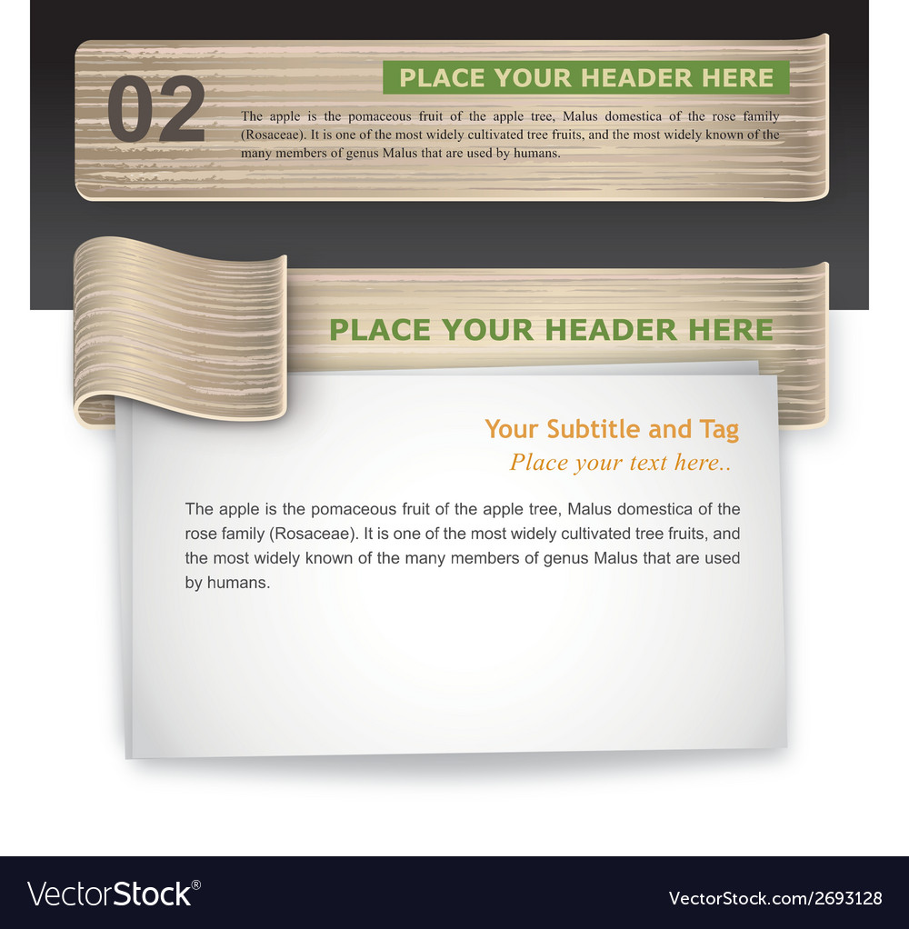 Wood-texture infographic template vector | Price: 1 Credit (USD $1)