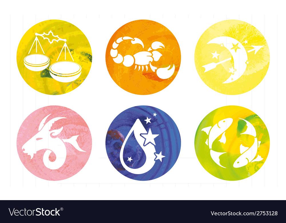 Zodiac signs watercolor vector | Price: 1 Credit (USD $1)