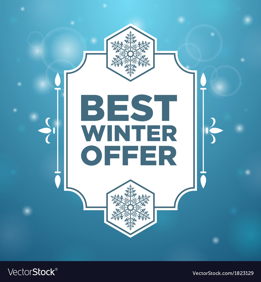 Best winter offer in beautiful frame vector | Price: 1 Credit (USD $1)