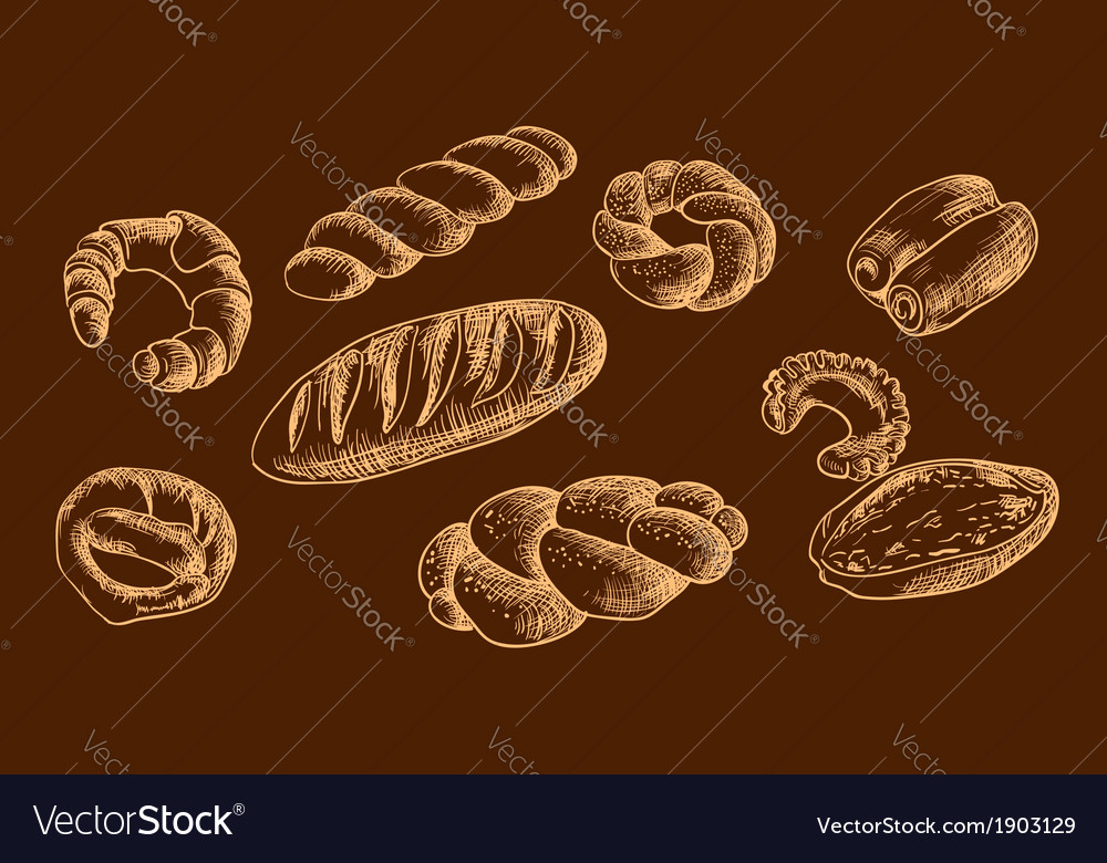 Bread products snack sweet vector | Price: 1 Credit (USD $1)