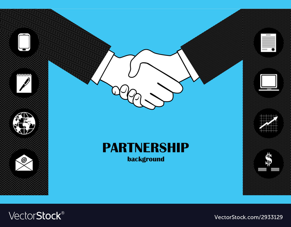 Business partnership vector | Price: 1 Credit (USD $1)