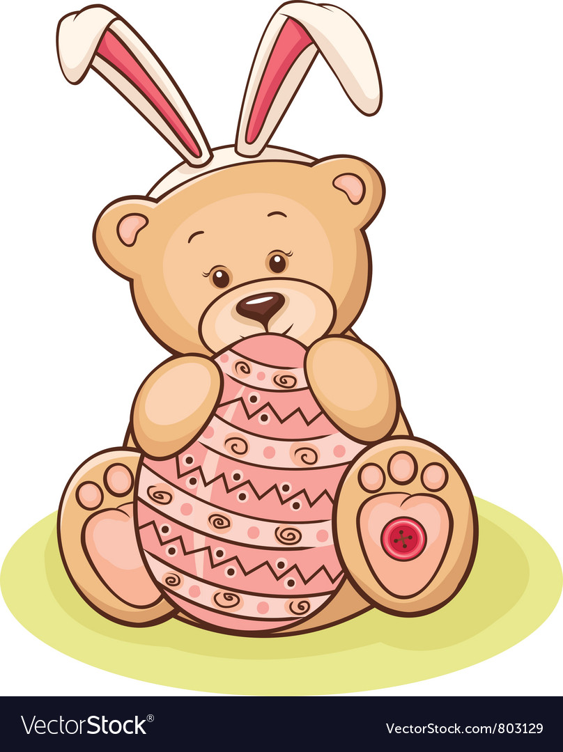 Easter teddy vector | Price: 3 Credit (USD $3)
