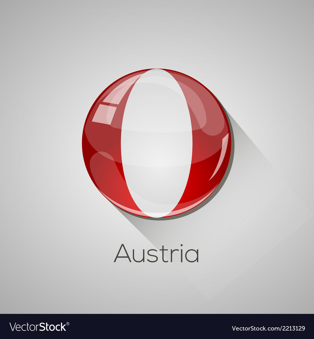 European flags set - austria vector | Price: 1 Credit (USD $1)