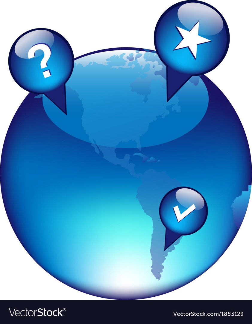 Globe and gps navigation elements vector   Price: 1 Credit (USD $1)