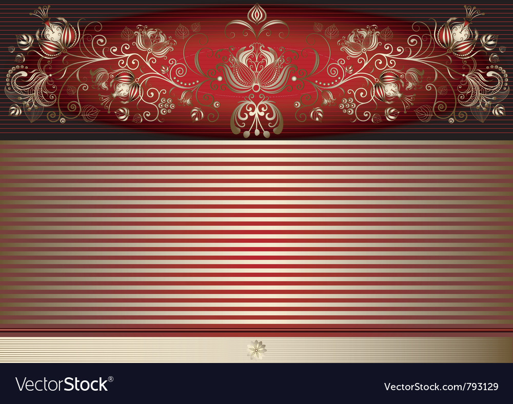 Gold and red easter elegance card vector | Price: 1 Credit (USD $1)