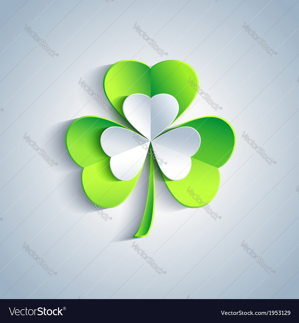 Patricks day card with leaf clover greeting card vector | Price: 1 Credit (USD $1)