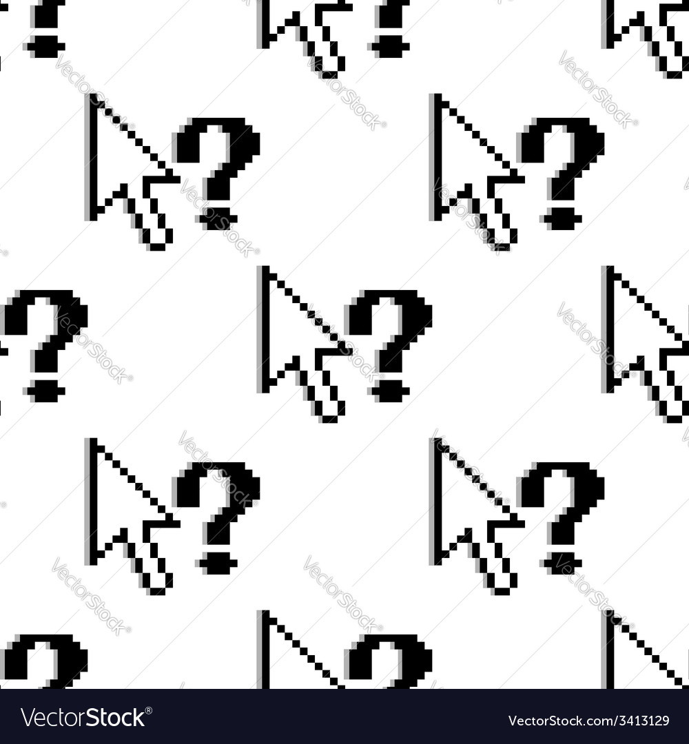 Seamless pattern of arrows and question marks vector | Price: 1 Credit (USD $1)