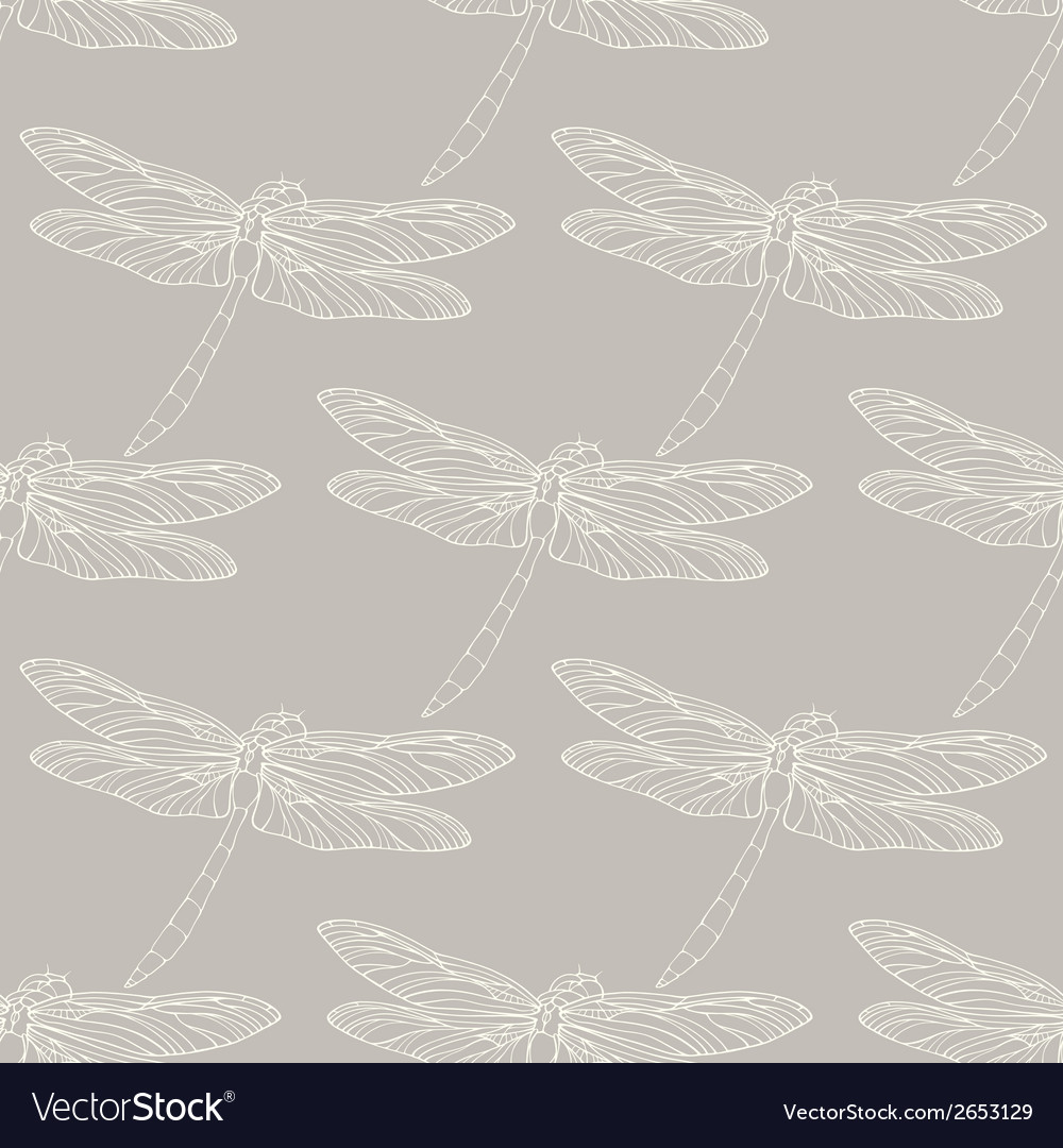 Seamless pattern with outline hand drawn vector | Price: 1 Credit (USD $1)
