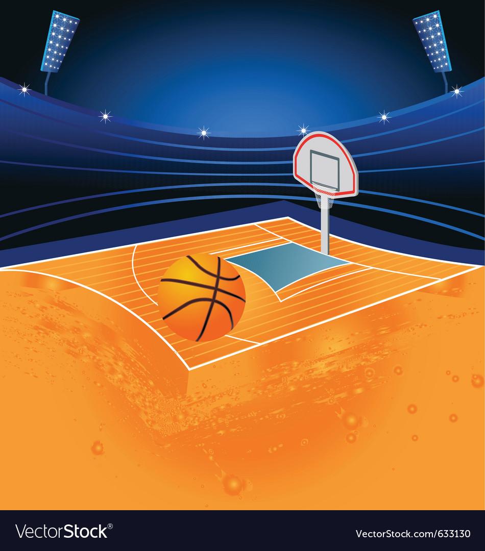 Basketball sport stadium vector | Price: 1 Credit (USD $1)