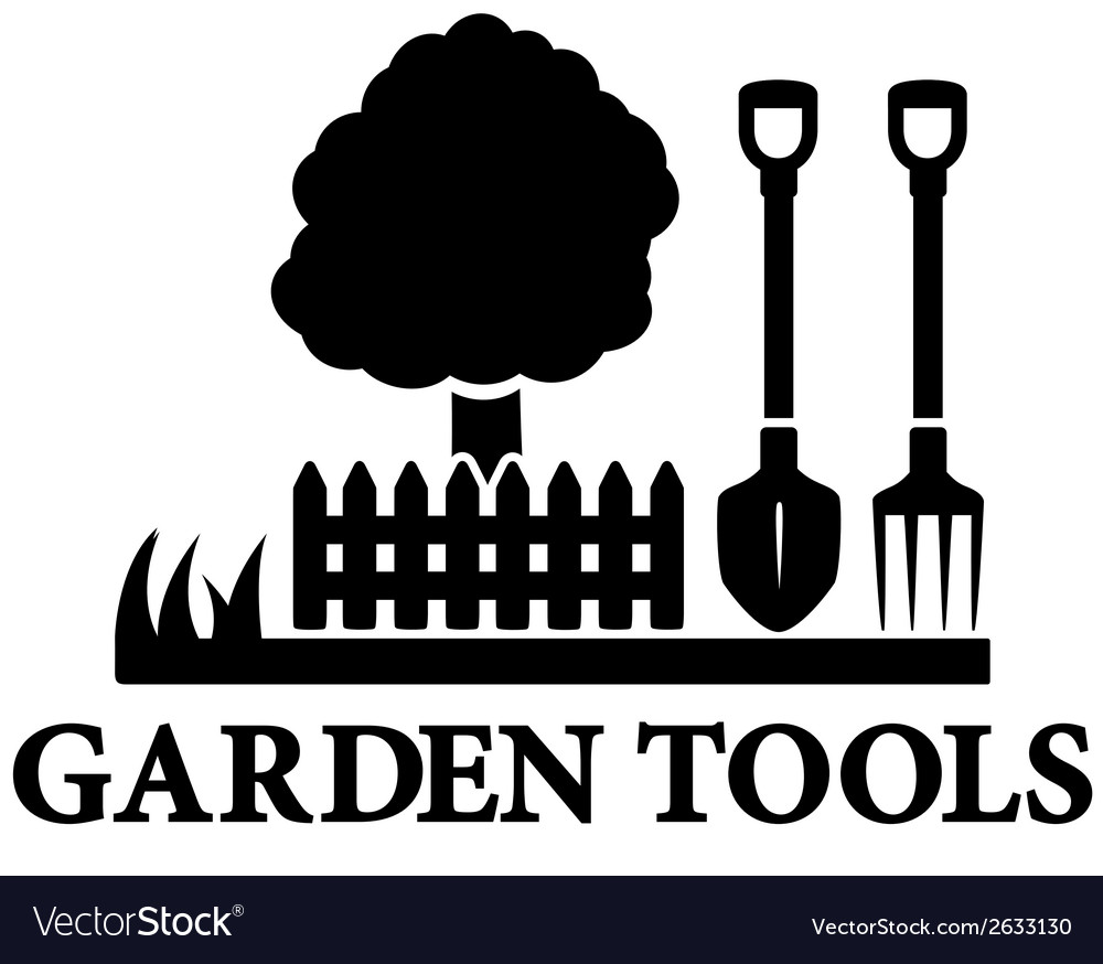 Black garden landscaping icon vector | Price: 1 Credit (USD $1)