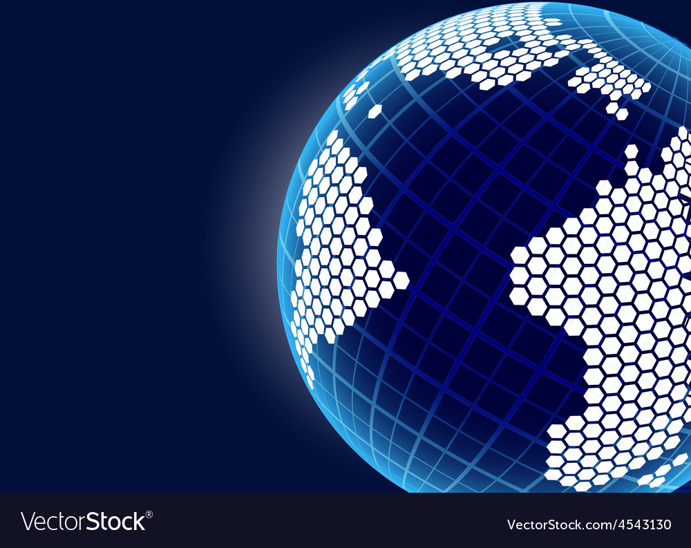 Blue planet background vector | Price: 1 Credit (USD $1)