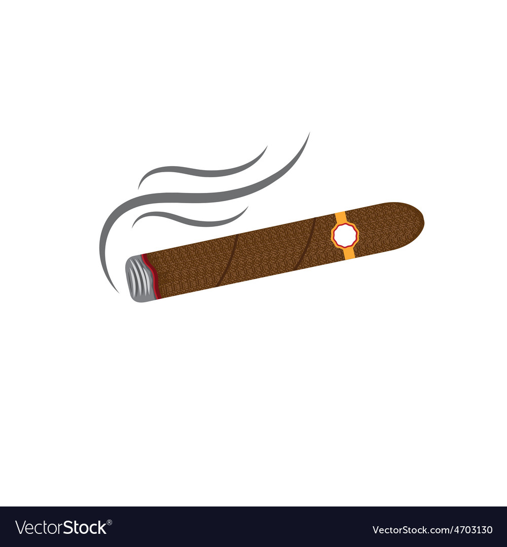 Cigars isolated on white background vector | Price: 1 Credit (USD $1)