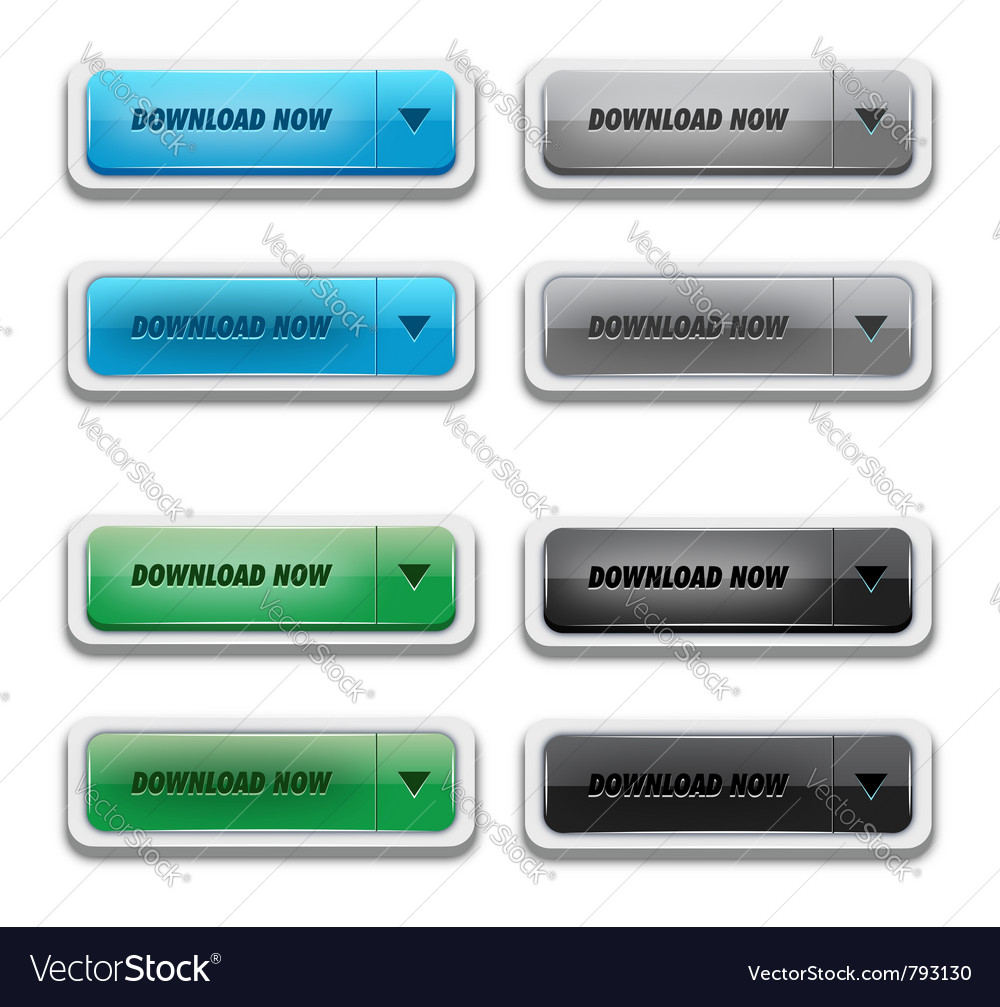 Download button set vector | Price: 1 Credit (USD $1)