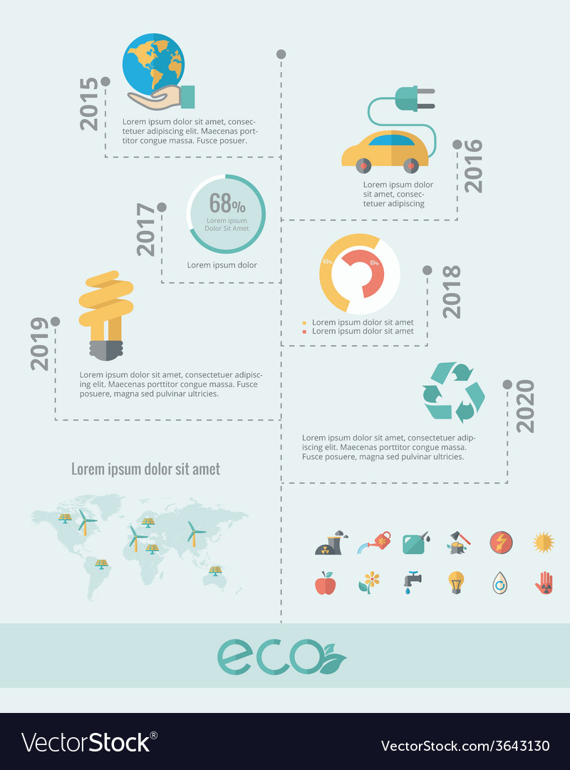 Ecology infographic elements vector   Price: 1 Credit (USD $1)