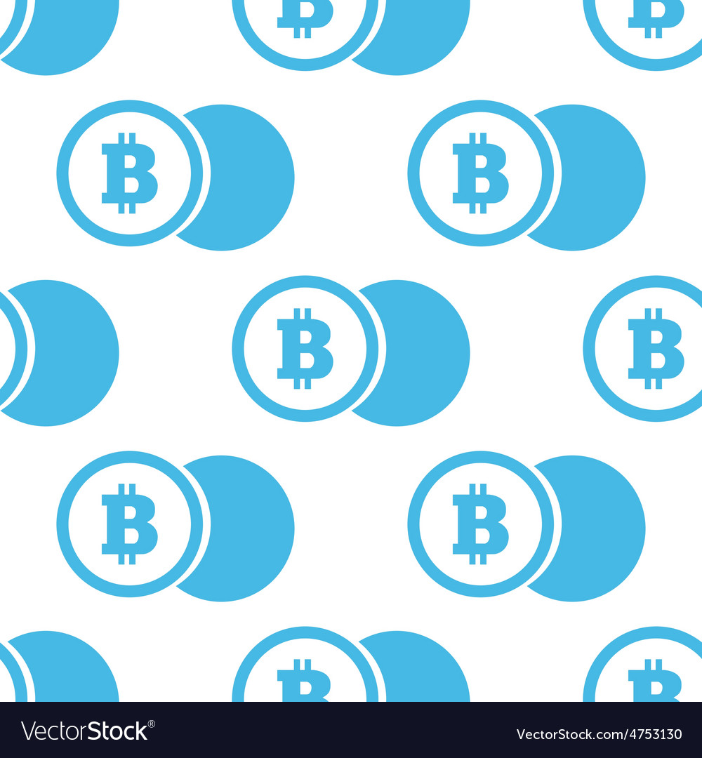 Flat bitcoin coin pattern vector | Price: 1 Credit (USD $1)