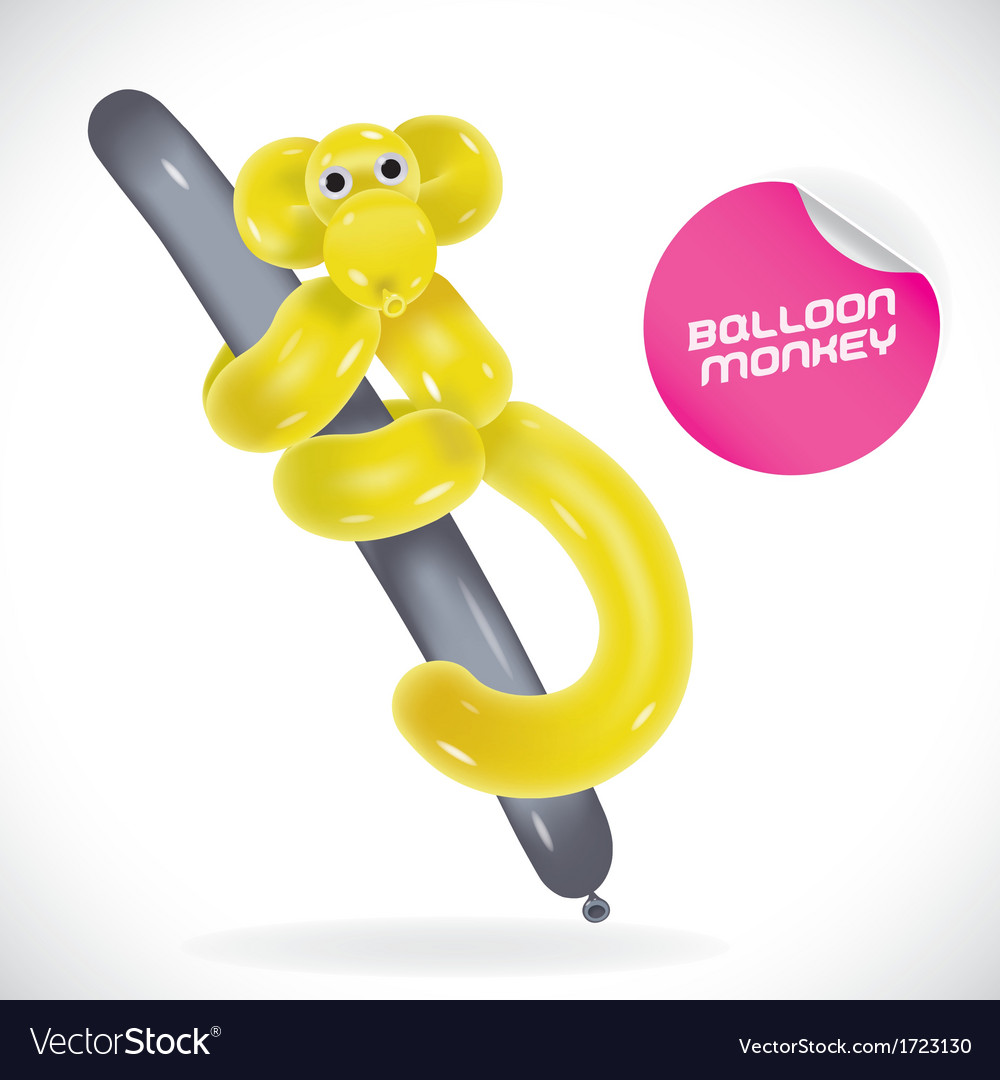 Glossy balloon monkey vector | Price: 1 Credit (USD $1)