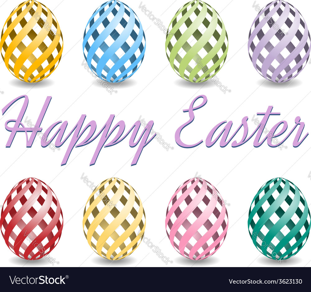 Happy easter eggs background vector | Price: 1 Credit (USD $1)