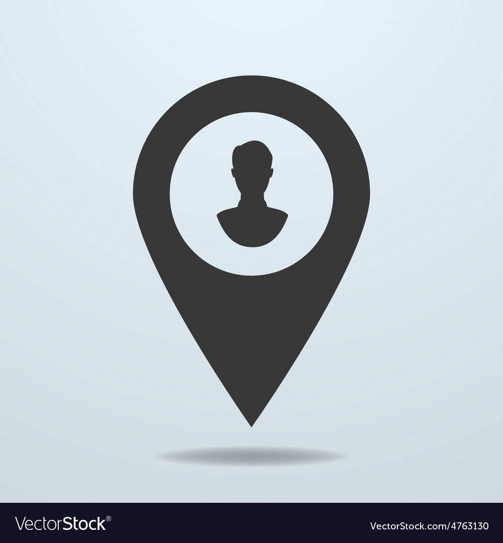 Map pointer with a male symbol vector | Price: 1 Credit (USD $1)