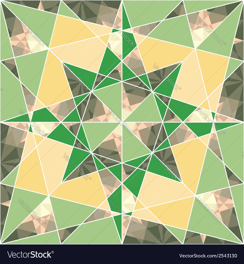 Seamless set geometric pattern with stars vector | Price: 1 Credit (USD $1)