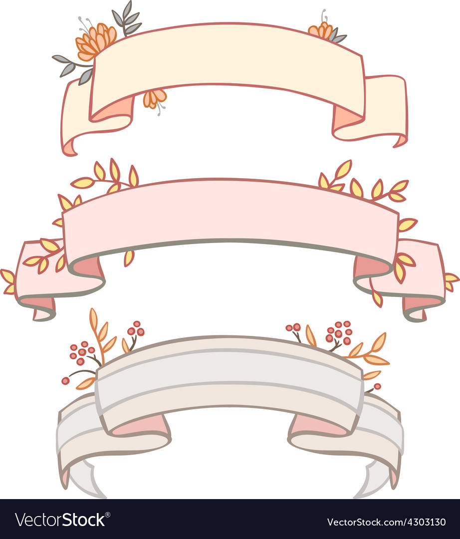 Three tapes frame with vegetation vector | Price: 1 Credit (USD $1)