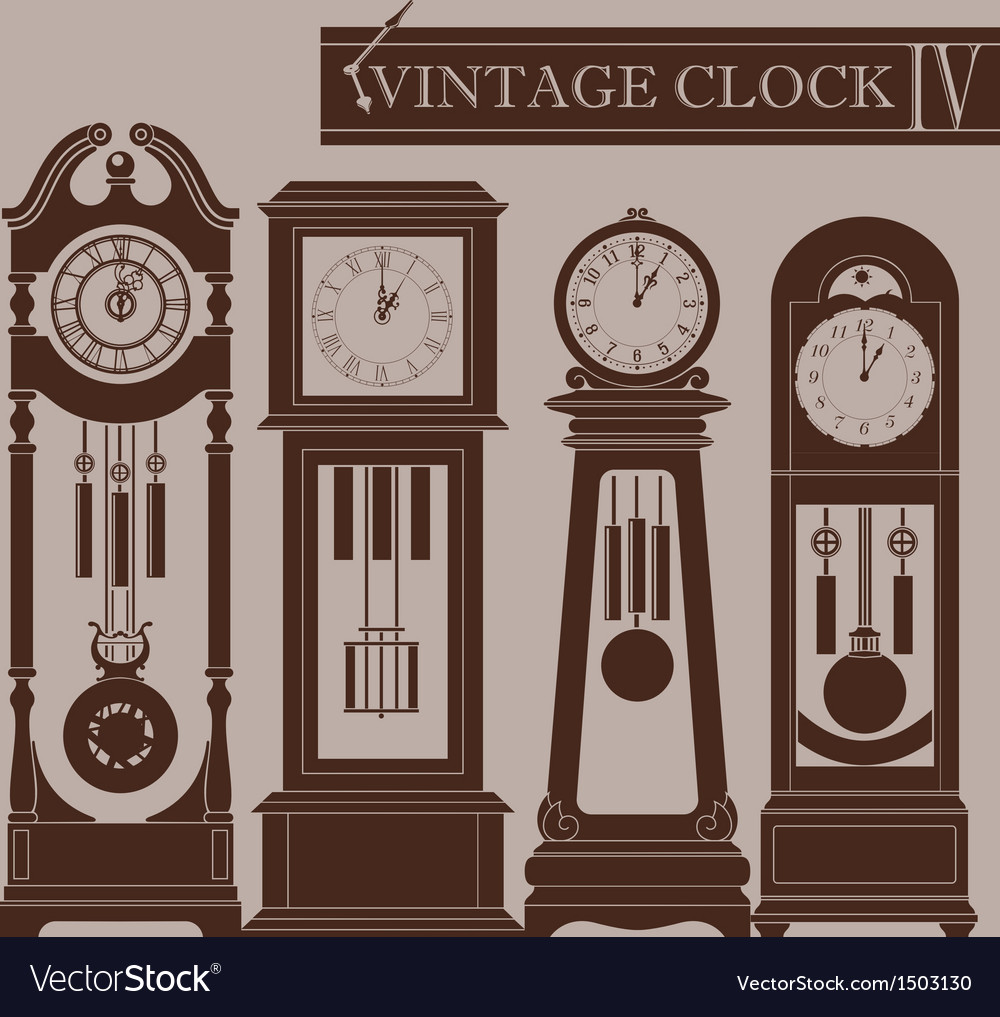 Vintage clock iv vector | Price: 1 Credit (USD $1)