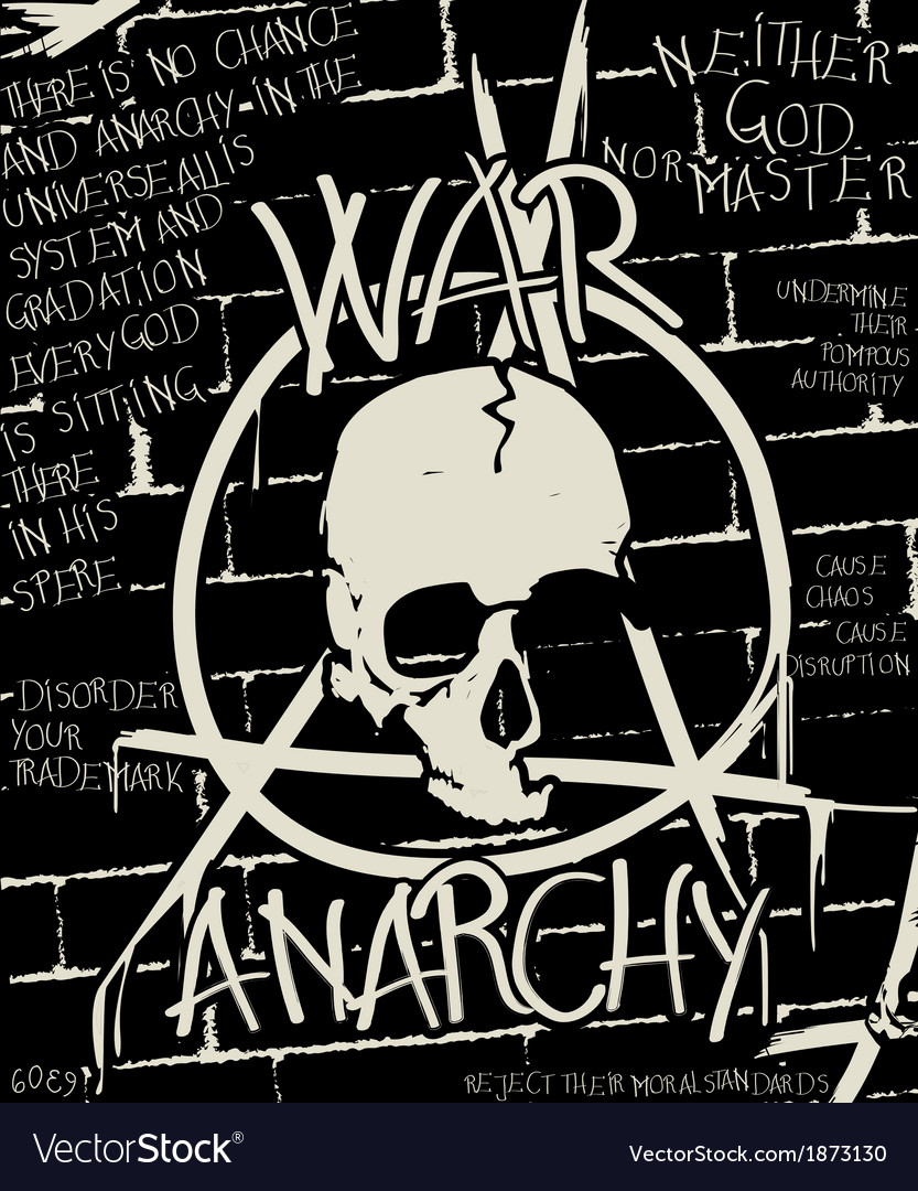 War and anarchy poster vector | Price: 1 Credit (USD $1)