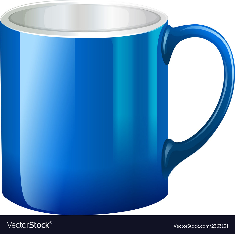 A big blue mug vector | Price: 1 Credit (USD $1)