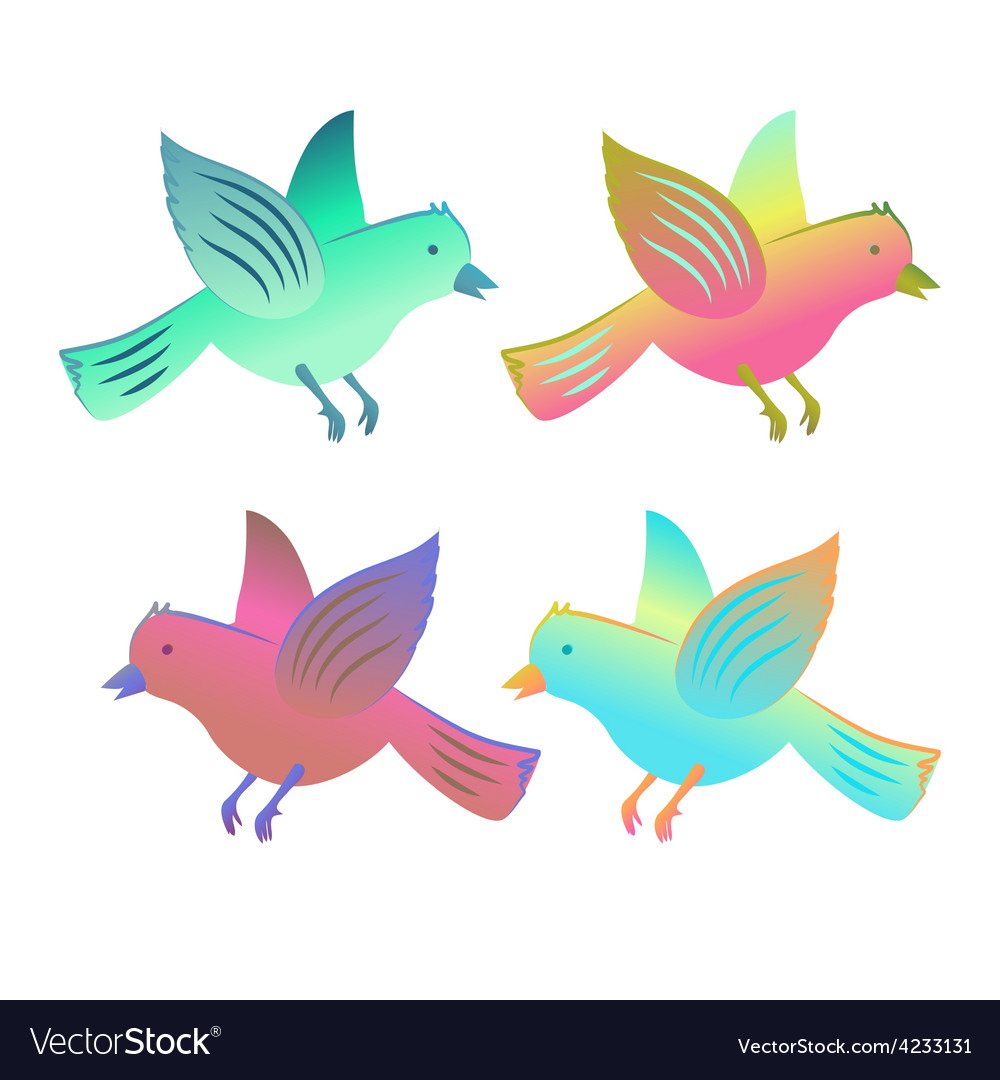 Birds in flight collection vector | Price: 1 Credit (USD $1)