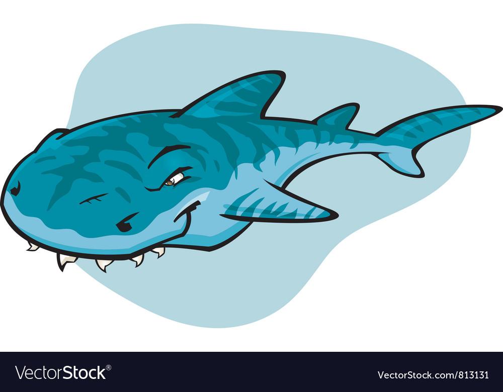 Cartoon tiger shark vector | Price: 1 Credit (USD $1)