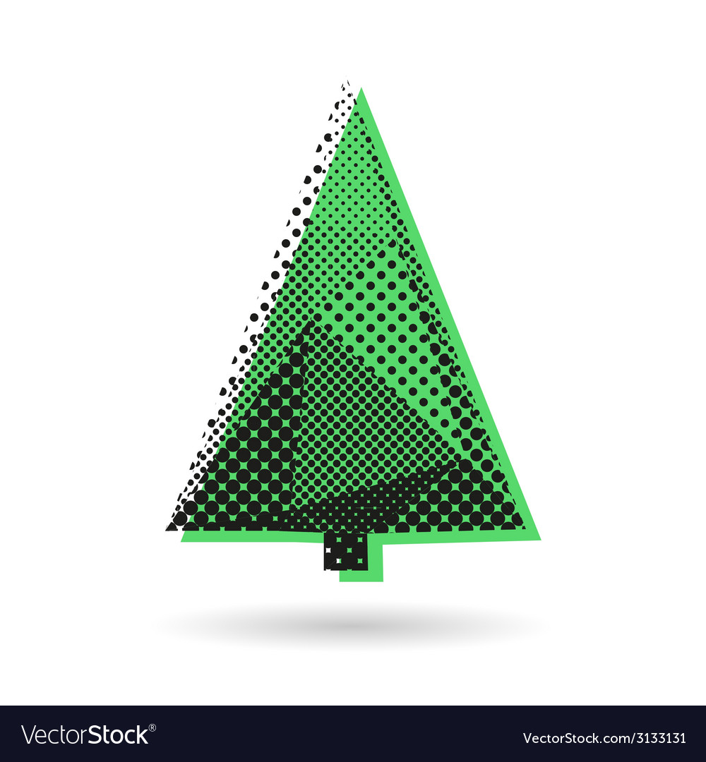 Christmas tree abstract isolated vector | Price: 1 Credit (USD $1)