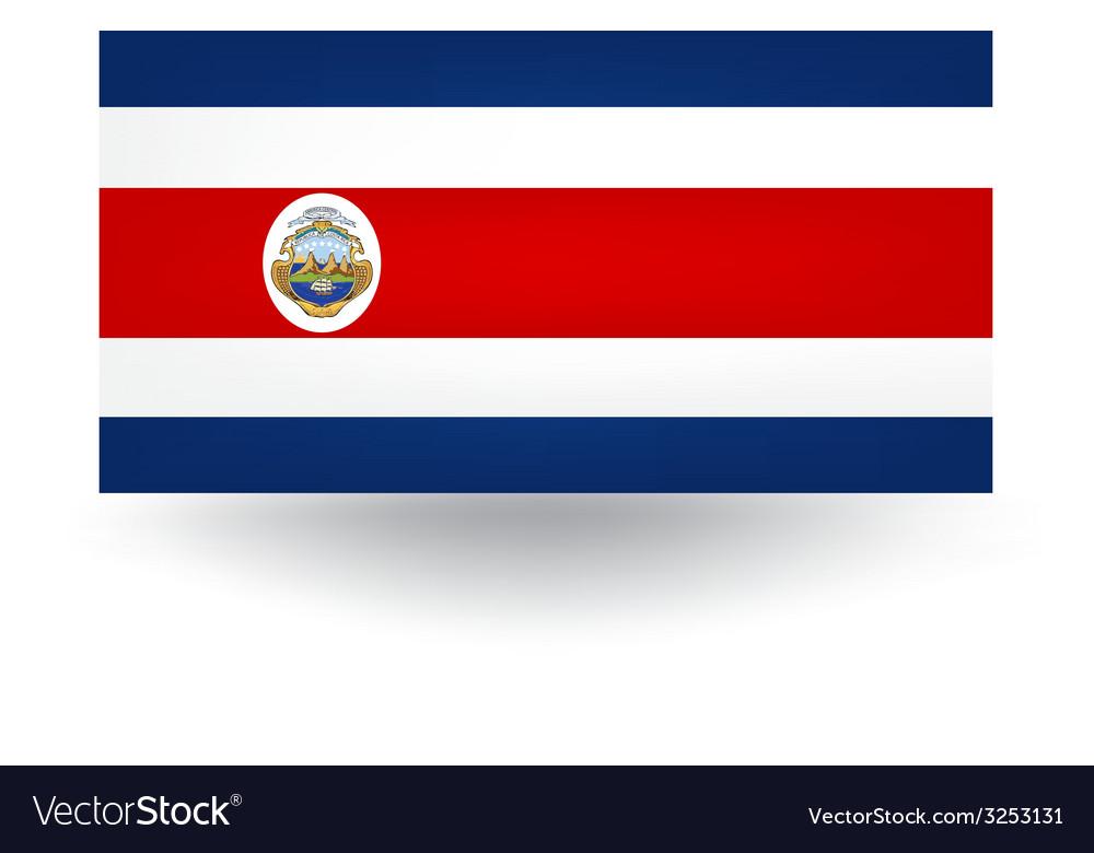 Costa rica flag vector | Price: 1 Credit (USD $1)