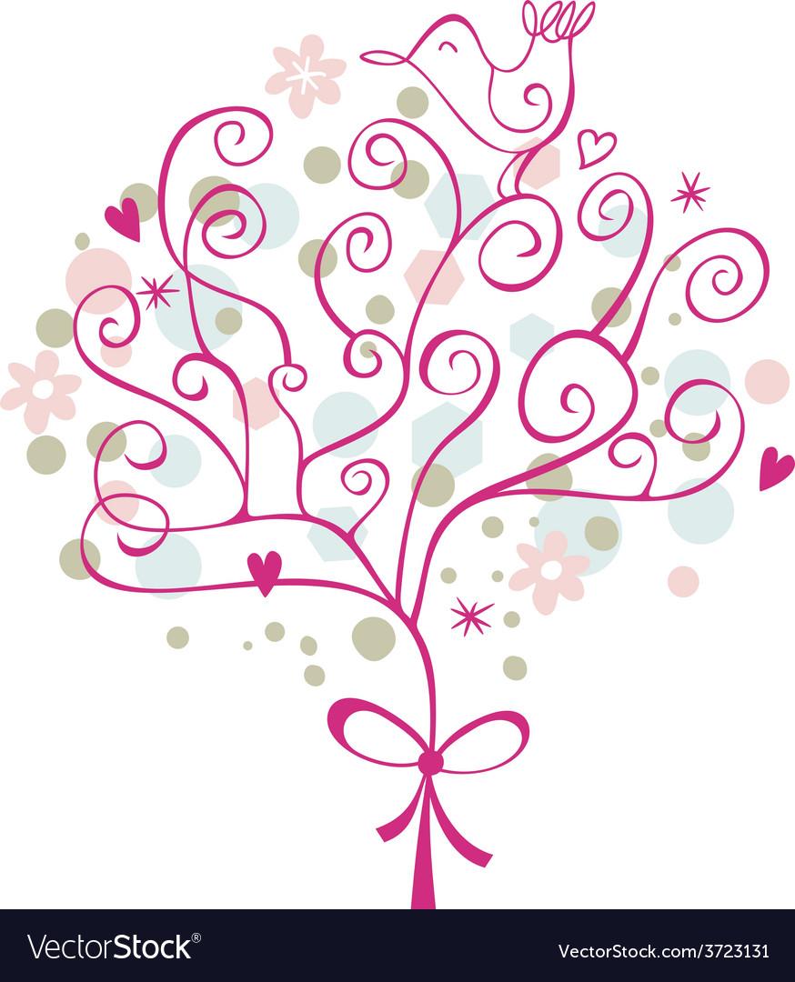 Festive tree vector | Price: 1 Credit (USD $1)