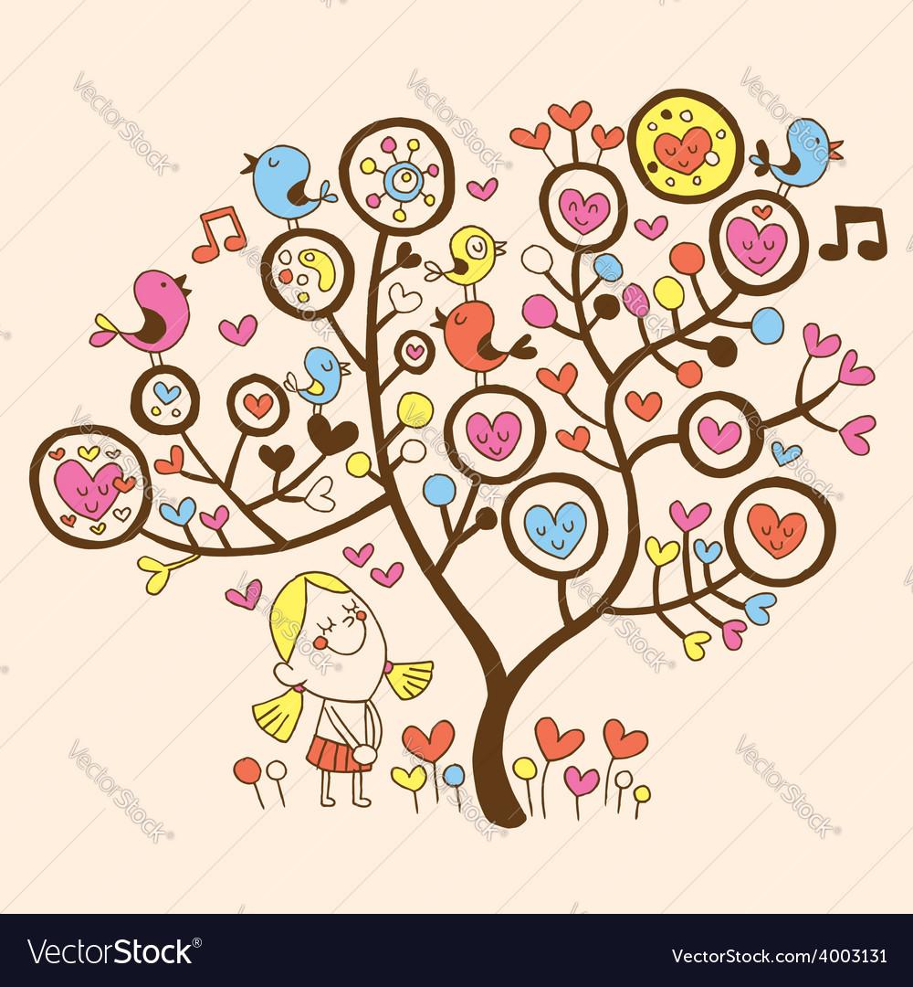 Love tree vector   Price: 1 Credit (USD $1)
