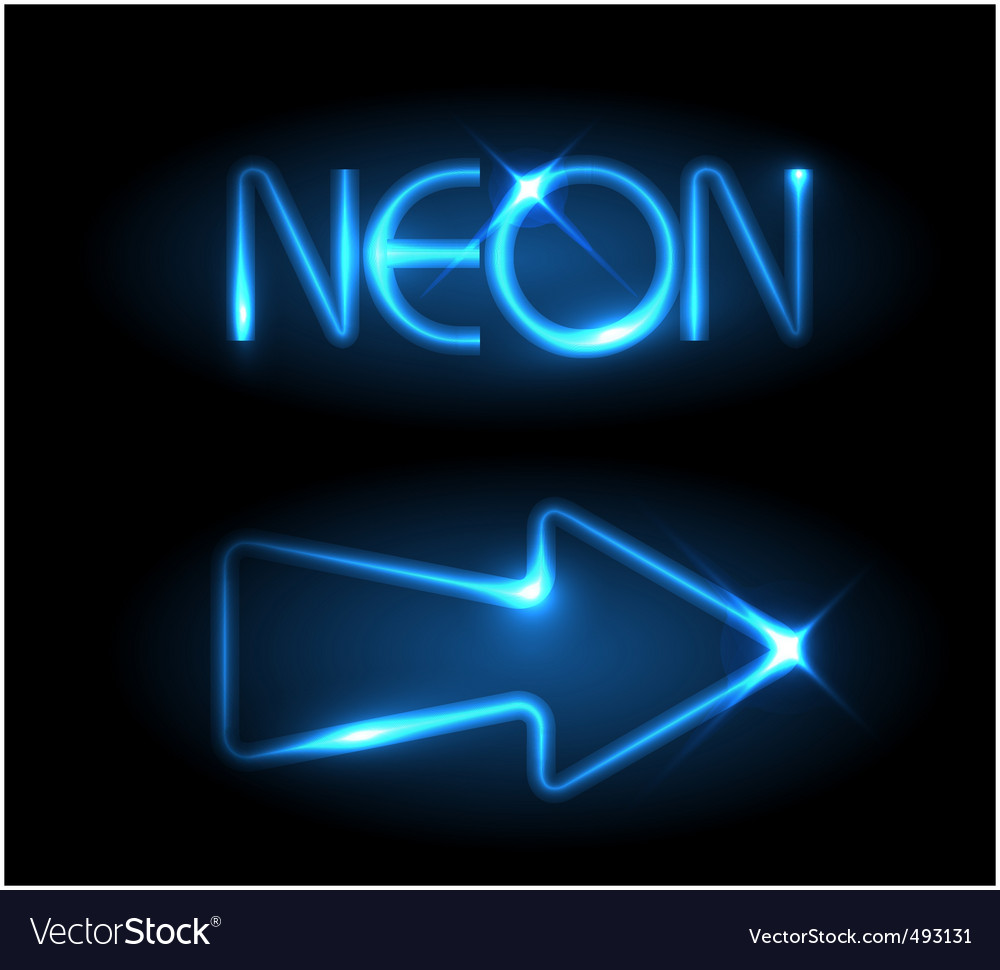 Neon arrow vector | Price: 1 Credit (USD $1)