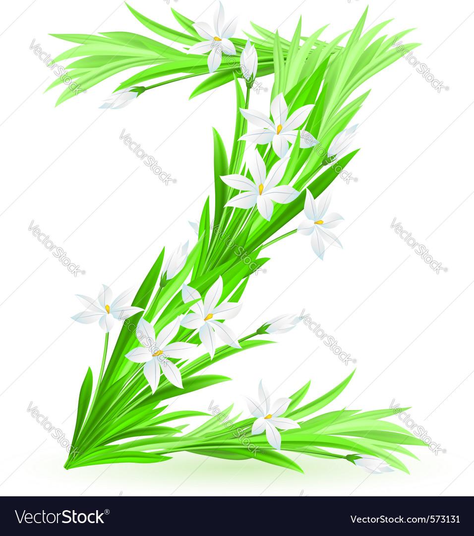 Spring flowers alphabet z vector   Price: 1 Credit (USD $1)
