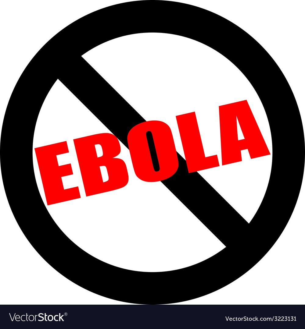 Stop ebola hand leader in black vector | Price: 1 Credit (USD $1)