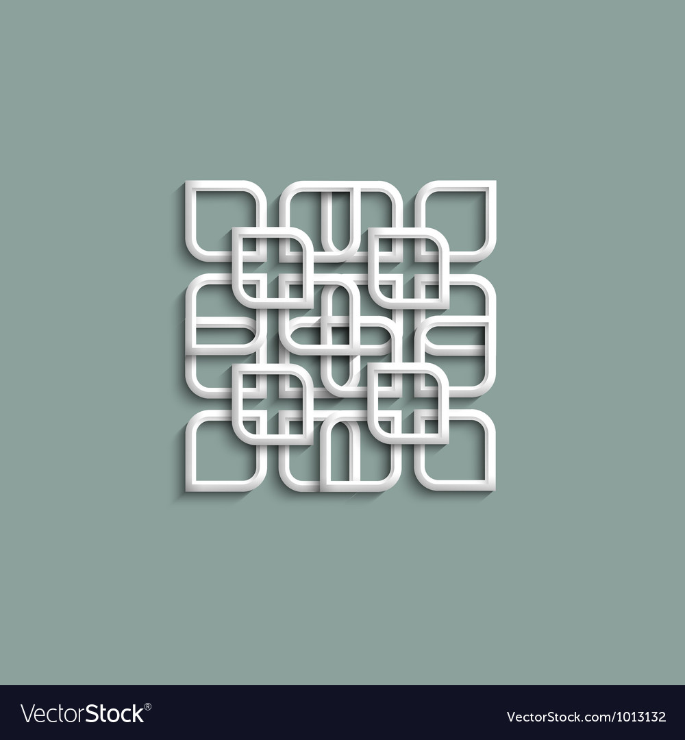 3d white pattern in arabic style vector | Price: 1 Credit (USD $1)