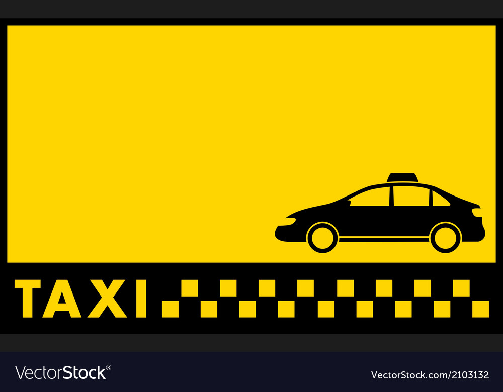 Cab yellow backdrop with taxi car vector | Price: 1 Credit (USD $1)