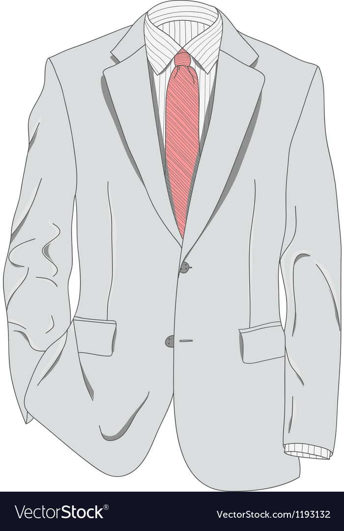 Light gray suit vector | Price: 1 Credit (USD $1)