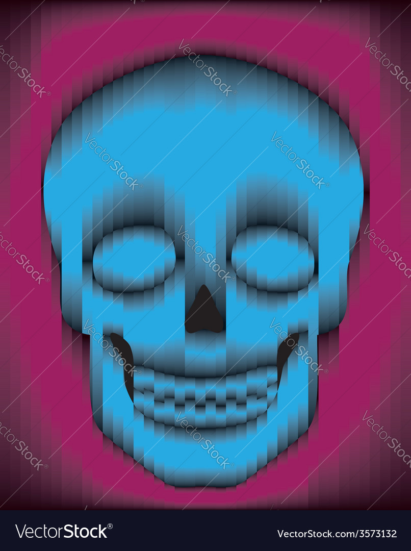 Sliced gradient skull vector | Price: 1 Credit (USD $1)